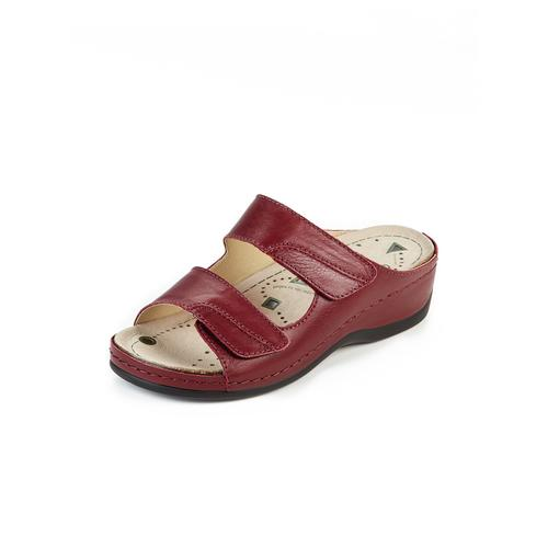 Avena Damen Pantoletten Rot einfarbig