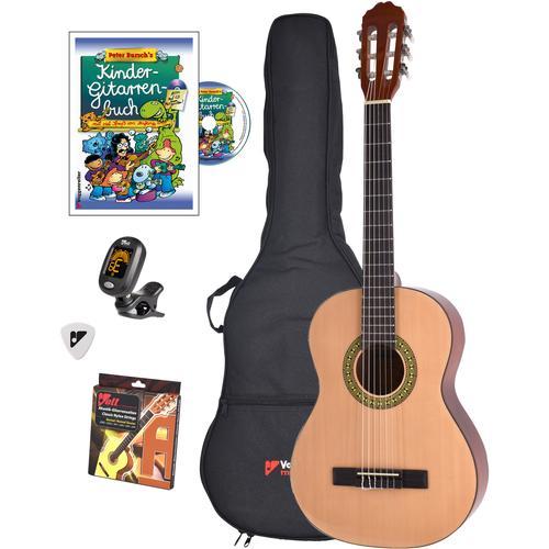 Voggenreiter Kindergitarre Voggys Kindergitarren-Set, 3/4 beige Gitarre Musikinstrumente
