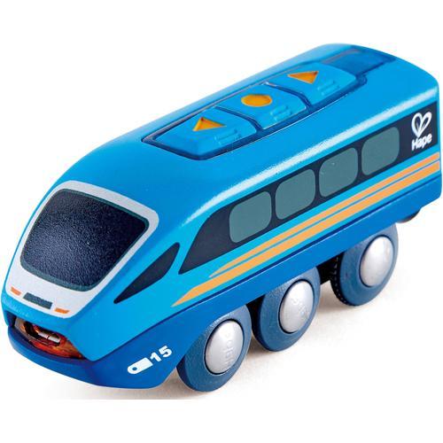 Hape Spielzeug-Eisenbahn Ferngesteuerter Zug, mit Soundeffekt blau Kinder Ab 3-5 Jahren Altersempfehlung