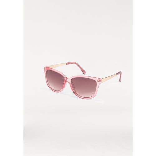 J.Jayz Sonnenbrille, Eckige Brille, Retro Look rosa Damen Ovale Sonnenbrille Sonnenbrillen Accessoires