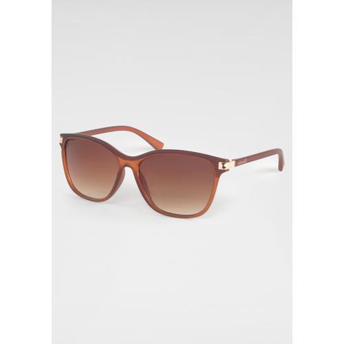 catwalk Eyewear Sonnenbrille, leicht getönte Gläser braun Damen Eckige Sonnenbrille Sonnenbrillen Accessoires