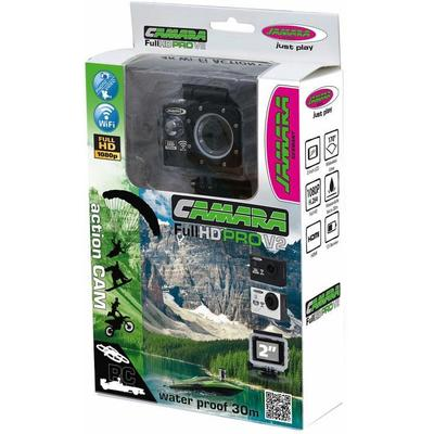 Jamara Action Cam Camera Full HD Wifi V2, schwarz Kinder Foto Video SOFORT LIEFERBARE Technik