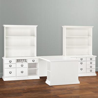 Wood Top - Partner's Desk Return Group Large - Ballard Designs