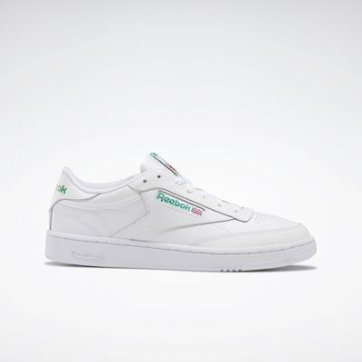 Reebok Unisex Club C 85 Men's Shoes in White/Green Size M 9.5 / W 11 - Court,Lifestyle Shoes