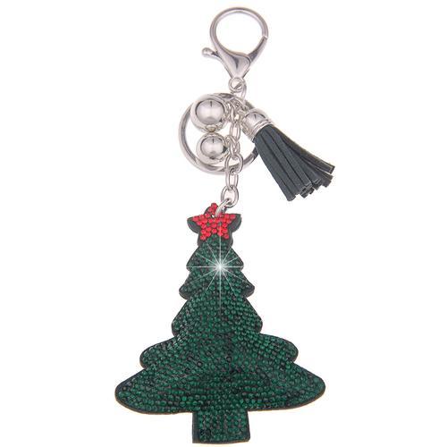 leslii Schlüsselanhänger, im glitzernden Design grün Damen Schlüsselanhänger Accessoires