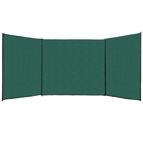 vidaXL Zaun Windschutz HDPE 150x600 cm Grün