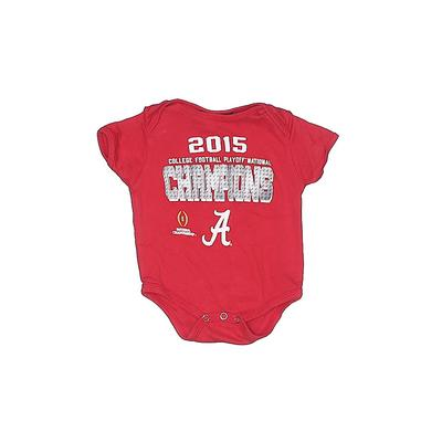 Assorted Brands Short Sleeve Onesie: Red Solid Bottoms - Size 6-9 Month