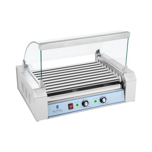 Royal Catering Hot Dog Grill - 9 Rollen - Edelstahl RCHG-9E