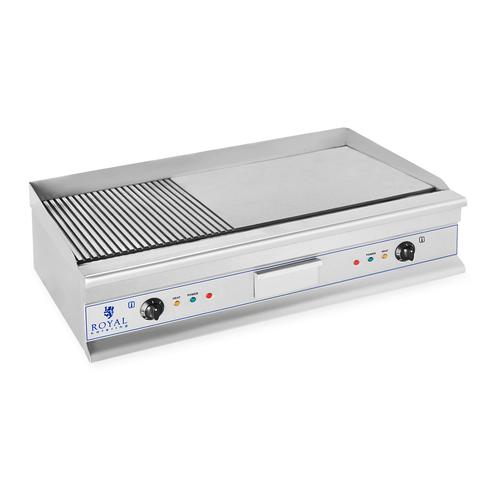 Royal Catering Doppel Elektro Grillplatte- 100 cm - glatt - 2 x 3.200 W RCG 100G