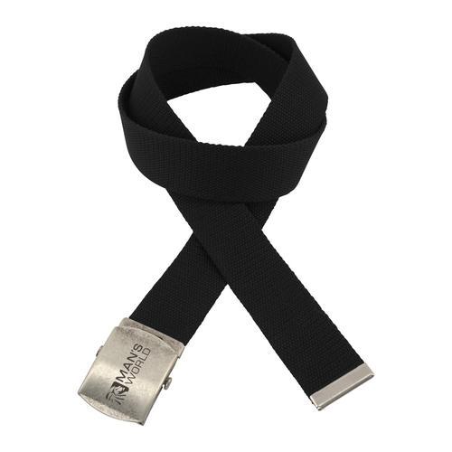 Man's World Stoffgürtel, Mit Koppelschließe, Textilbandgürtel schwarz Damen Stoffgürtel Gürtel Accessoires