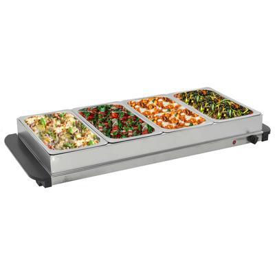 vidaXL Serveur buffet Acier inoxydable 400 W 4x2,5 L