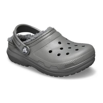Crocs Slate Grey/Smoke Kids' Classic Lined Clog Shoes