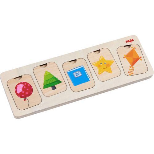 HABA Holzpuzzle Farben & Formen, bunt