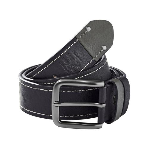 Jan Vanderstorm Synthetikgürtel BORAK, hochwertiger Material-Mix schwarz Damen Ledergürtel Gürtel Accessoires