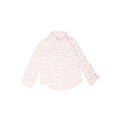 Okie Dokie Long Sleeve Button Down Shirt: Pink Tops - Size 3