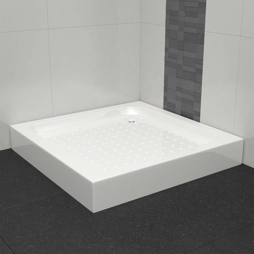 vidaXL Duschwanne 70×70×13,5 cm Acryl Weiß