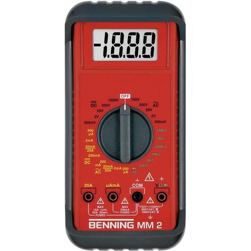 Benning, Multimeter, Hand-Multimeter digital MM 2 K (CAT III 600V, CAT II 1000V)