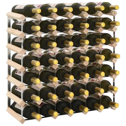 vidaXL Weinregal für 42 Flaschen Massivholz Kiefer
