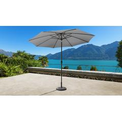 11' Outdoor Market Umbrella for kathy ireland Homes & Gardens in Slate - TK Classics UMBRELLA-11x8MKT-KI-SLATE