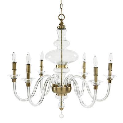Mila Blown Glass Chandelier - Ballard Designs