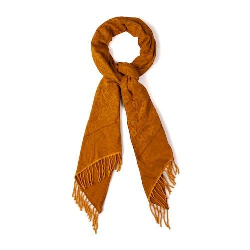 Große Größen Schal Damen (Größe One Size, senf) | Ulla Popken Schals & Tücher | Baumwolle/Nylon, Jersey
