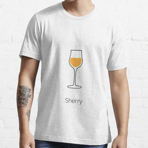 Sherry-Wein-Druck, Sherry-Wein, Weingläser Essential T-Shirt