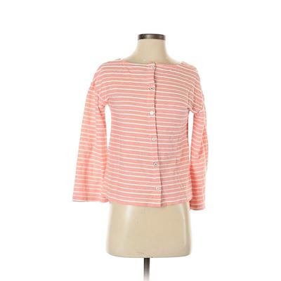 A New Day Pullover Sweater: Pink Stripes Tops - Size Small
