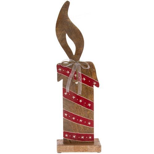 Dekoobjekt Kerze, Holzfigur braun Deko-Objekte Figuren Skulpturen Wohnaccessoires