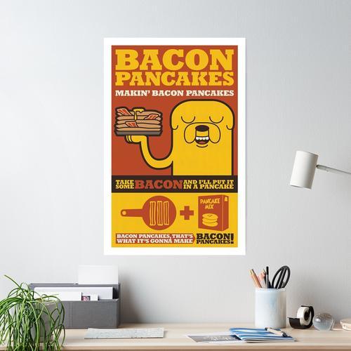 Bacon-Pfannkuchen Poster