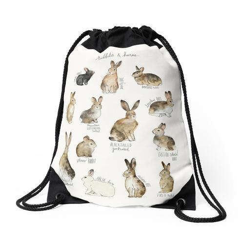 Kaninchen und Hasen Rucksackbeutel