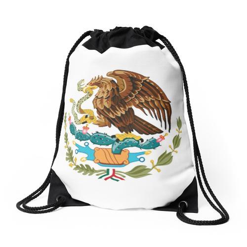 MEXIKO. MEXIKANER. EAGLE SYMBOL, Mexikanische Flagge, Flagge von Mexiko, Bandera de M Rucksackbeutel