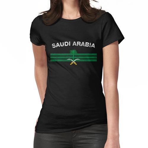 Saudisches oder saudiarabisches Flaggen-Hemd - Saudi-oder Saudi-arabisches Emblem u. Frauen T-Shirt