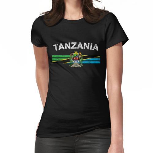 Tansanische Flagge Shirt - Tansania Emblem & Tansania Flag Shirt Frauen T-Shirt