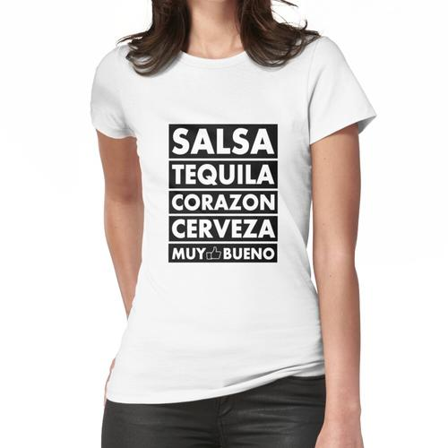 Salsa Tequila Corazon .. Frauen T-Shirt