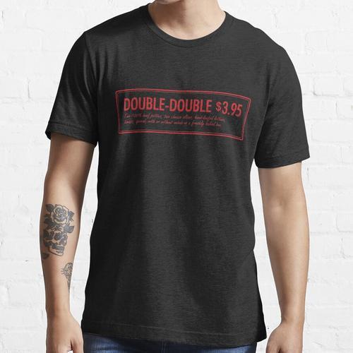 In-n-Out-Doppelzimmer mit doppeltem Burger Essential T-Shirt