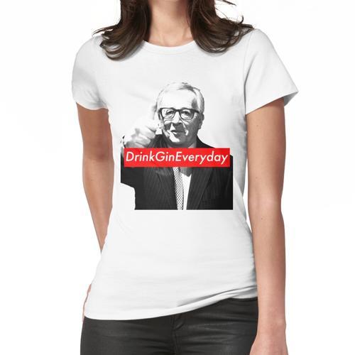 Jean Claude Juncker Drink Gin jeden Tag Frauen T-Shirt