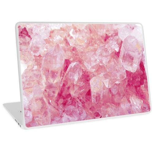 Pinker Kristall Laptop Skin