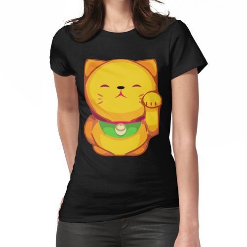 Japanische Winkekatze Glücksbringer Frauen T-Shirt