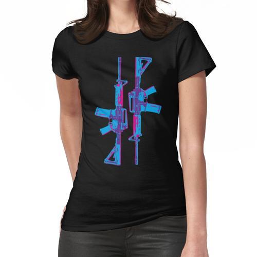 Neon M4 Karabiner (Gewehr) Frauen T-Shirt