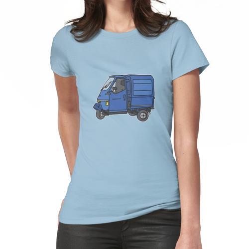 Blauer Dreirad Kleintransporter Frauen T-Shirt