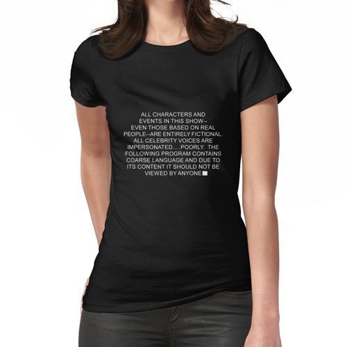 South Park Haftungsausschluss Frauen T-Shirt