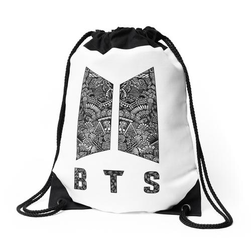 Logo Zentangle - BTS Rucksackbeutel