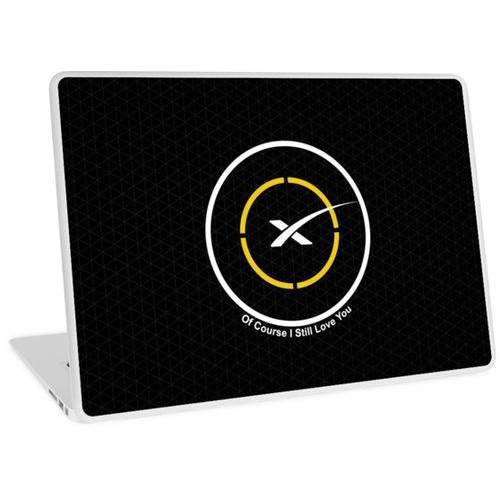 Space X Autonomes Drohnenschiff Natürlich liebe ich dich immer noch Laptop Skin