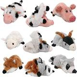 Ethical Pet Flip A Zoo Barnyard Squeaky Plush Dog Toy, 8-in