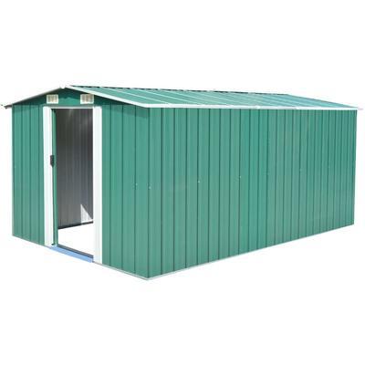 Abri de jardin 257 x 398 x 178 cm Metal Vert