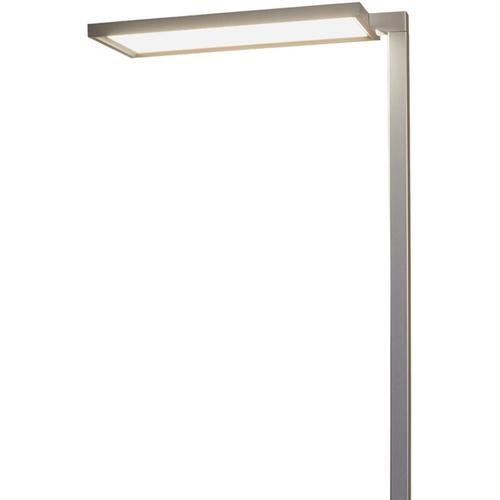 Silberne Büro-LED-Stehlampe Dorean