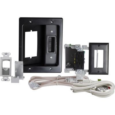 On-Q HT22U2BKR6 Flat Screen TV Pro Power Kit- Black