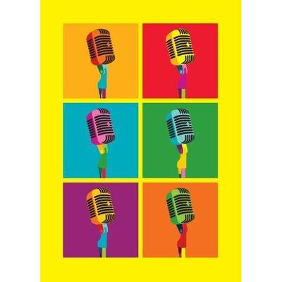 My World Microphones Greeting Card