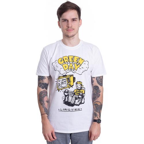 Green Day - Longview Doodle White - - T-Shirts