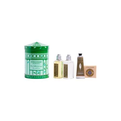 L'Occitane Pflege Verbene Geschenkset Verveine Gel Douche 75 ml + Vereine Body Lotion 75 ml + Verveine Extra-Gentle Soap 50 g + Cooling Hand Cream Gel 30 ml + Music Box 1 Stk.